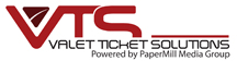 Valet Ticket Solutions Powered by Papermill Media Group Logo